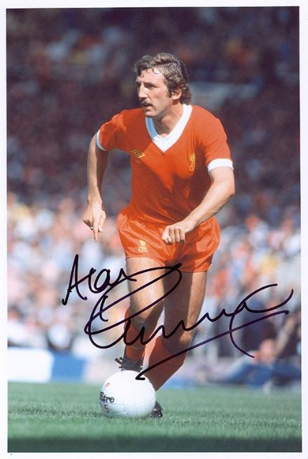 Alan Kennedy, Liverpool, signed 12x8 inch photo.(2)